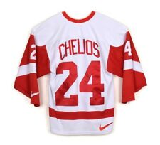 Vintage Nike NHL Detroit Red Wings Chris Chelios #24 Away Replica Jersey Sz M