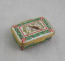 Tiffany & Co Halcyon Days Partridge In A Pear Tree Hinged Trinket Box