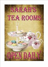 Personalised Tea Shop Sign Personalised Cafe Tea Shop Sign Vintage Tea Shop Sign
