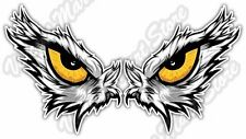 "Eagle Angry Eyes Bird Hawk Vulture Car Bumper Window Vinyl Sticker Decal 6""X3"""