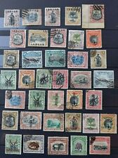 NORTH BORNEO AND LABUAN 1894-1909: 37 USED STAMPS WITH HIGH VALUES