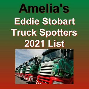 Eddie Stobart Truck Personalised Spotter Name Book List October 2021 Fun for all