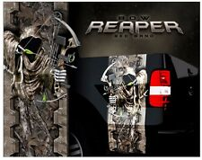 Grim reaper bow hunting woodland ghost camouflage truck bed band decal graphic