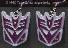 Huge Funky MEGATRON EARRINGS Transformers Costume Comics Character Charm Jewelry