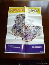 Ducati 750 Round Case Engine Brochure NOS bevel twin gt sport