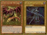 Yugioh Slifer the Sky Dragon + Dark Magician - Gold Rare Movie Pack 2 Card Set