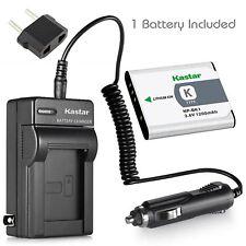 NP-BK1 Battery & Regular Charger for Sony Cyber-shot DSC-S980 W180 W190 W370