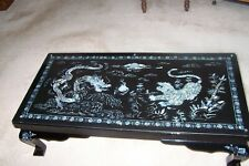 Chinese coffee table Mother pearl Dragon & Tiger figuratively