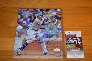 Joc Pederson Autographed Los Angeles Dodgers 8x10 Color MLB Photo with JSA COA