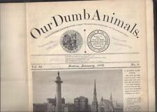 Our Dumb Animals-Jan. 1902 to Dec. 1905 Massachusetts SPCA Very RARE!