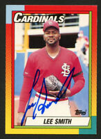 Lee Smith #118T signed autograph auto 1990 Topps Baseball Trading Card