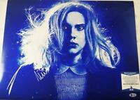 MILLIE BOBBY BROWN 11 SIGNED 16x20 METALLIC PHOTO STRANGER THINGS BAS COA 673