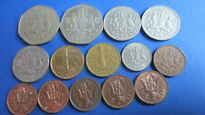 Barbade Lot 15 Pièce 1 Cent Jusqu'À 1 Dollar 1973-1987 En Ttb Jusqu'À Sup (4582)