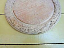 More details for vintage carved wooden bread board - lot 1