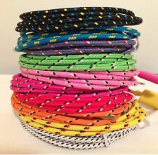 High Quality Braided Colorful USB Cable Charger Sync Cord for iPhone 7 lot d