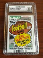 1987 Topps Football Cello Pack — Randall Cunningham Rookie on Top! Authentic!!!!