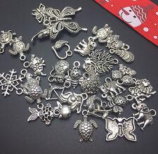 random 12pcs Tibet silver mix Pendant beaded Jewelry Findings Charm DIY