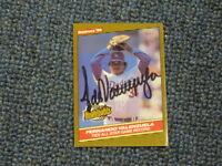 Fernando Valenzuela Autographed Baseball Card JSA Auc Certified 5
