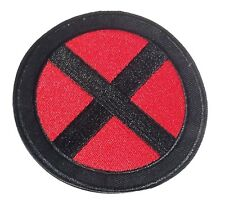 X-Men Red and Black Logo 3 1/2 Inch Wide Embroidered Iron On Patch