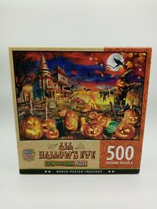 500 Pc MasterPieces Jigsaw Puzzle All Hallow's Eve Glow-In-The-Dark!