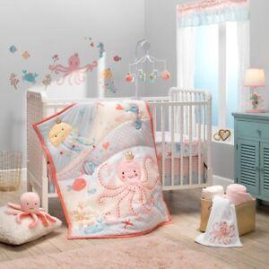 Lambs & Ivy Ocean Mist Baby Nursery Crib Bedding 3 & 4 Piece Set NEW