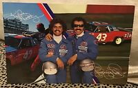 NASCAR RICHARD PETTY KYLE PETTY 1980 PROMOTIONAL POSTCARD