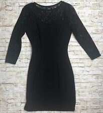 Guess Women's Knit Body Con Lace Dress Sz XS Long Sleeve Fitted