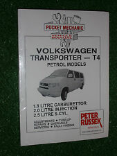 VOLKSWAGEN VW T4 PETROL TRANSPORTER VAN CARAVELLE BUS MANUAL 1996-99