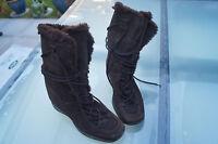 ESPRIT Damen Mädchen Winter Stiefel Schuhe Gr.38 braun warm gefüttert TOP