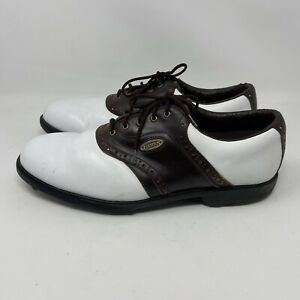 FootJoy Comfort Golf Shoes 57817 White Lace Up Saddle Oxford Men's Sz 13 N