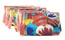 Lot of 5: Estee Lauder Riviera Maya Tropical Floral Print Makeup Bags