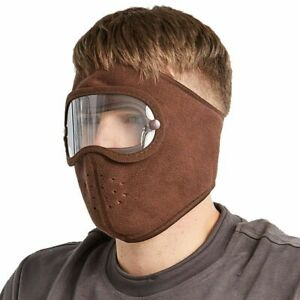 Full Face Ski Mask With Goggles Outdoor Winter Cycling Windproof Warm Balaclava