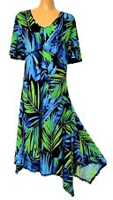 TS dress TAKING SHAPE plus sz XXS (12) Leaf Print Dress stretch comfy NWT!