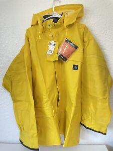 Carhartt Mens PVC Rainwear Coat New With Tags Size Xlarge Yellow