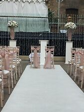 White Wedding Event Carpet. 0.90m x 9.00m. Real Carpet,  8mm thick. Border edged