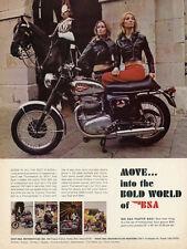 1968 BSA THUNDERBOLT 650 VINTAGE MOTORCYCLE AD POSTER 24x18