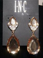 INC Gold Tone Double Bronze Teardrop Earrings NWT $26