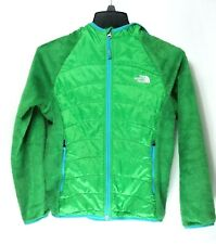 North Face Girls Filles Green with hoodie L/G (14/16)