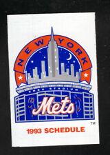 New York Mets--1993 Pocket Schedule--MetLife--Snoopy