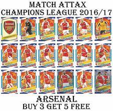ARSENAL Match Attax Champions League 2017 card/s 2016/17