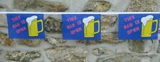 More details for this bar is open flag polyester bunting - various lengths
