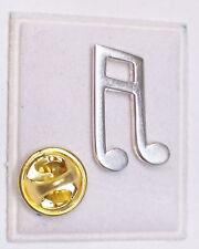 Croma: SPILLA da giacca (PINS) con NOTA MUSICALE in Argento 925 - musica -