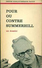 Pour ou contre Summerhill, Petite Bibliothèque Payot 1970