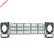 New For Chevy Gmc C10 C20 Pickup Fits 1979-1980 Front Grille & Headlamp Door 3pc
