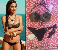 NWT Beach Bunny Bikini TAKE ME THERE (L) push-up top & (L) skimpy scrunch bottom