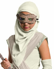 Child Rey Eye Mask W/ Hood Star Wars The Force Awakens Halloween Accessory