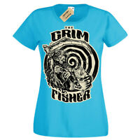 The grim fisher T-Shirt death fisherman Womens Ladies