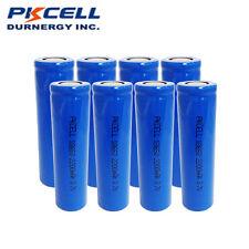 8 X 18650 Rechargeable Li-ion Batteries 2200mAh 3.7V Flat Top For Flashlight