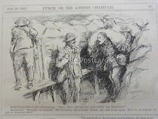 Ww1 1916 19 De Julio De Guerra-Caballería Hombre A Pal & Bolsa de arena Punch Cartoon