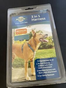 NEW PetSafe 3 IN 1 Pet Dog Harness Size Medium Teal FAST SHIPPING!